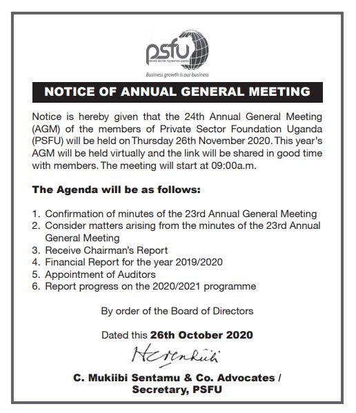 Notice: 24th Annual General meeting